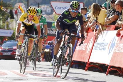 Hasta el último metro, Quintana estuvo disputando la posibilidad de remontar.