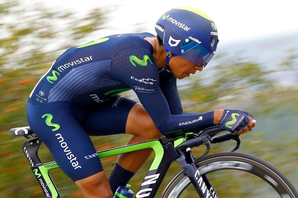 Quintana demostró que sigue mejorando en la crono.