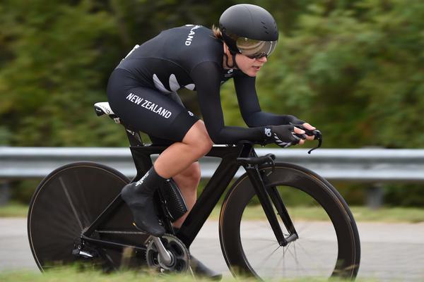 Linda Villumsen, nueva campeona mundial de la crono femenina, categoría élite.