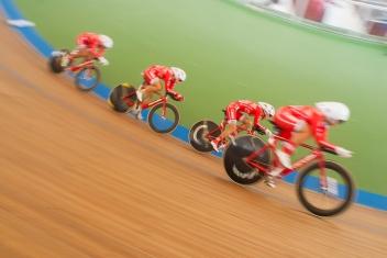 Pruebas clasificatorias de la persecución por equipos. 2015 © LaCadenilla.com