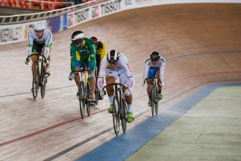 Keirin. Día 2. Copa Mundo de Ciclismo de Pista. 2015 © LaCadenilla.com
