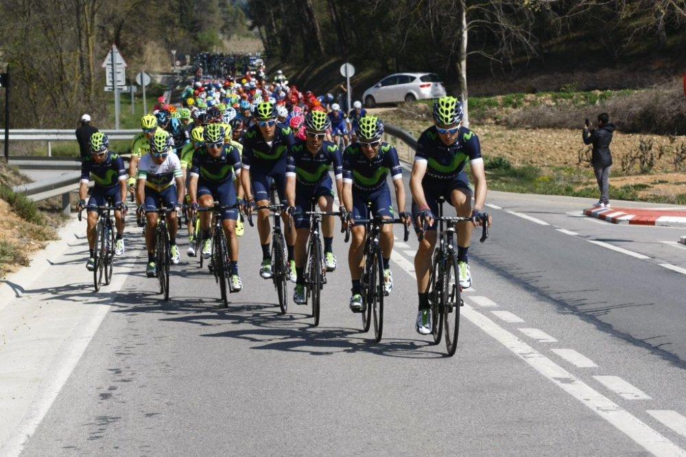 El Movistar protegió a Nairo durante la jornada. (Handout © Movistar Team)