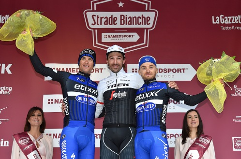 Stybar, Cancellara y Brambilla.