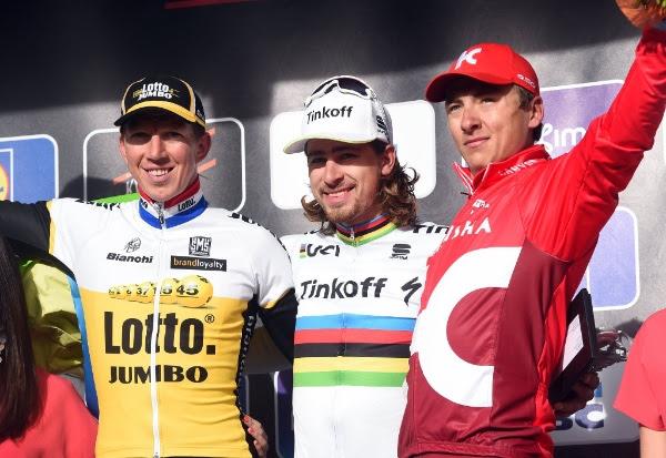 El podio de la Gent Wevelgem 2016. (Handout © Tinkoff Sport)