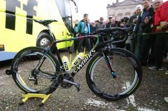 Paris Roubaix 2016 - 10/04/2016 - Compiègne / Roubaix (257,5 km) - Vélo de l'équipe Tinkoff