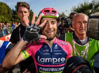 Quinta victoria de etapa en el Giro, en toda su carrera deportiva, para Diego Ulissi © Handout RCS Sport