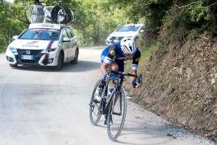 Brambilla se separó de la fuga sobre Alpe di Poti, y no se detuvo hasta triunfar en solitario © Handout RCS Sport