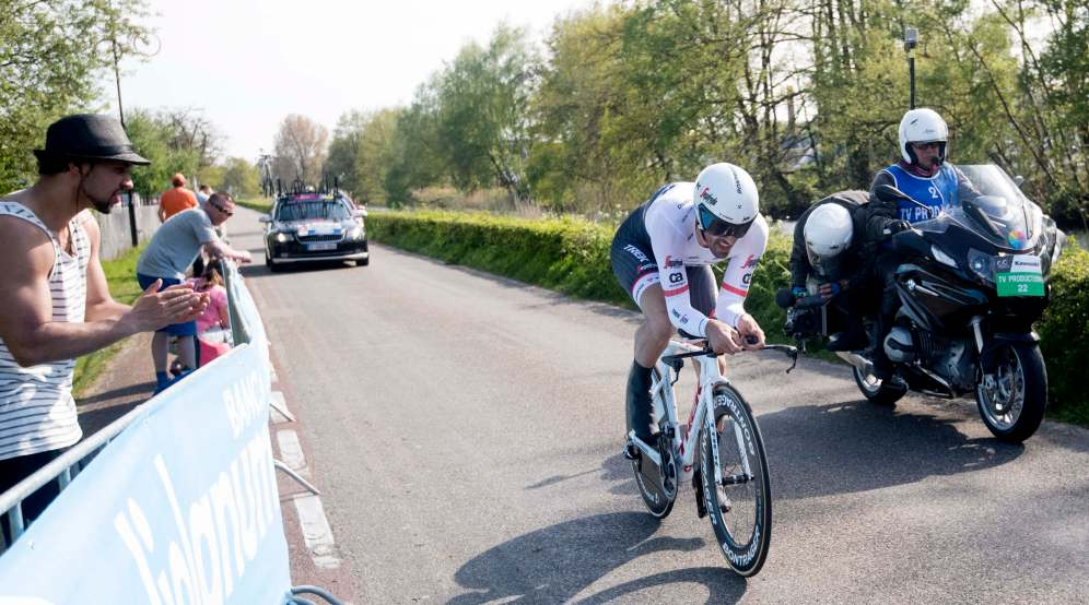 Fabian Cancellara, que se despide del pelotón profesional este año, quería lucir la Maglia Rosa que le falta a su palmarés, pero una afección gástrica se le interpuso © Handout RCS Sport