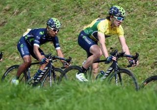 La dupla vencedora en Romandie © Handout Movistar Team