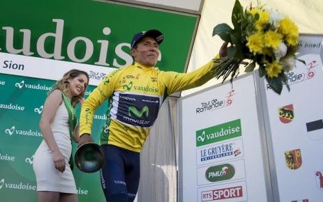 El podio fue colombiano en la Romandie 2016 © Handout Tour de Romandie
