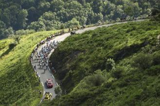 El Col d'Aspin se vivió en medio de la tregua entre los favoritos @Handout Tinkoff Sport