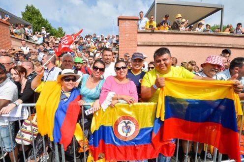 La fanaticada colombiana se hizo presente en la partida de la séptima fracción © Handout A.S.O.