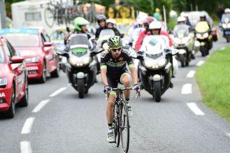 Armindo Fonseca rodó 133 kilómetros en solitario. Faltando 90 fue alcanzado por Voeckler © Handout A.S.O.