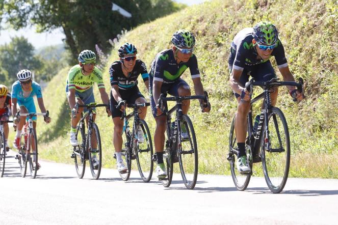 Valverde controló las embestidas de Henao y puso de su parte en el descenso © Handout Movistar Team