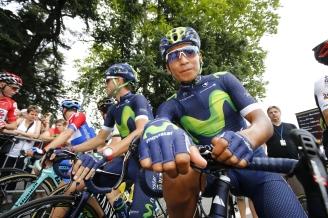 En Pau, Quintana conservaba la calma que lo caracteriza © Handout Movistar Team