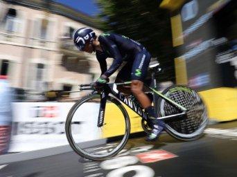 Quintana salió a la crono con casi un minuto de retraso en el acumulado, frente a Froome © Handout Team Sky