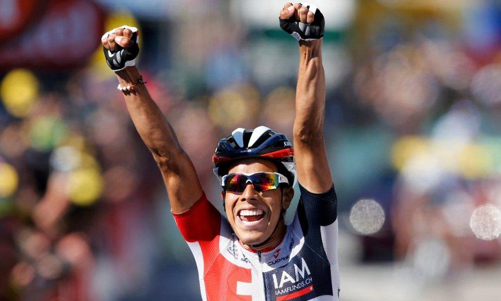 Pantano consiguió la victoria número 15 en la historia de los colombianos en el Tour @ Handout IAM Cycling