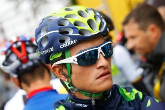 Anacona perdió tiempo, luego de llevarse al hombro a su equipo por largos kilómetros © Handout Movistar Team