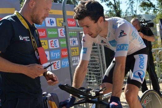 Adam Yates perdió un puesto en la general, pero sigue en el podio © Handout A.S.O.