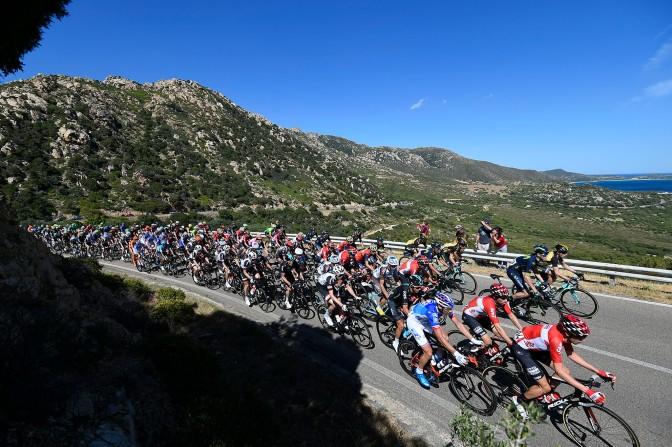 Giro d'Italia 2017 - 100a edizione - Tappa 3 - da Tortoli' a Cagliari - 148 km ( 91,9 miglia )
